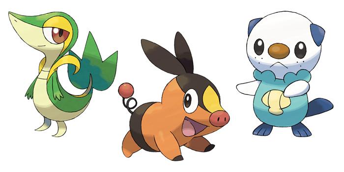 Pokemon gen 5 Starters - Snivy / Tepig / Oshawott