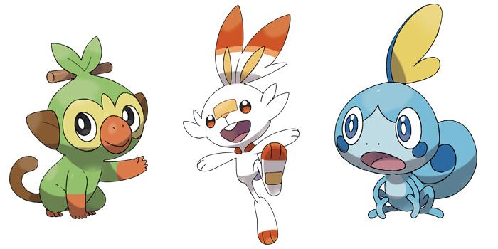 Pokemon gen 8 Starters - Grookey / Scorbunny / Sobble
